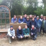 4 day cob course May 2012 group shot at the end of the cob building workshop