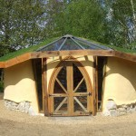 Cob and strawbale studio designed and built by Kate Edwards of Edwards & Eve Cob Building