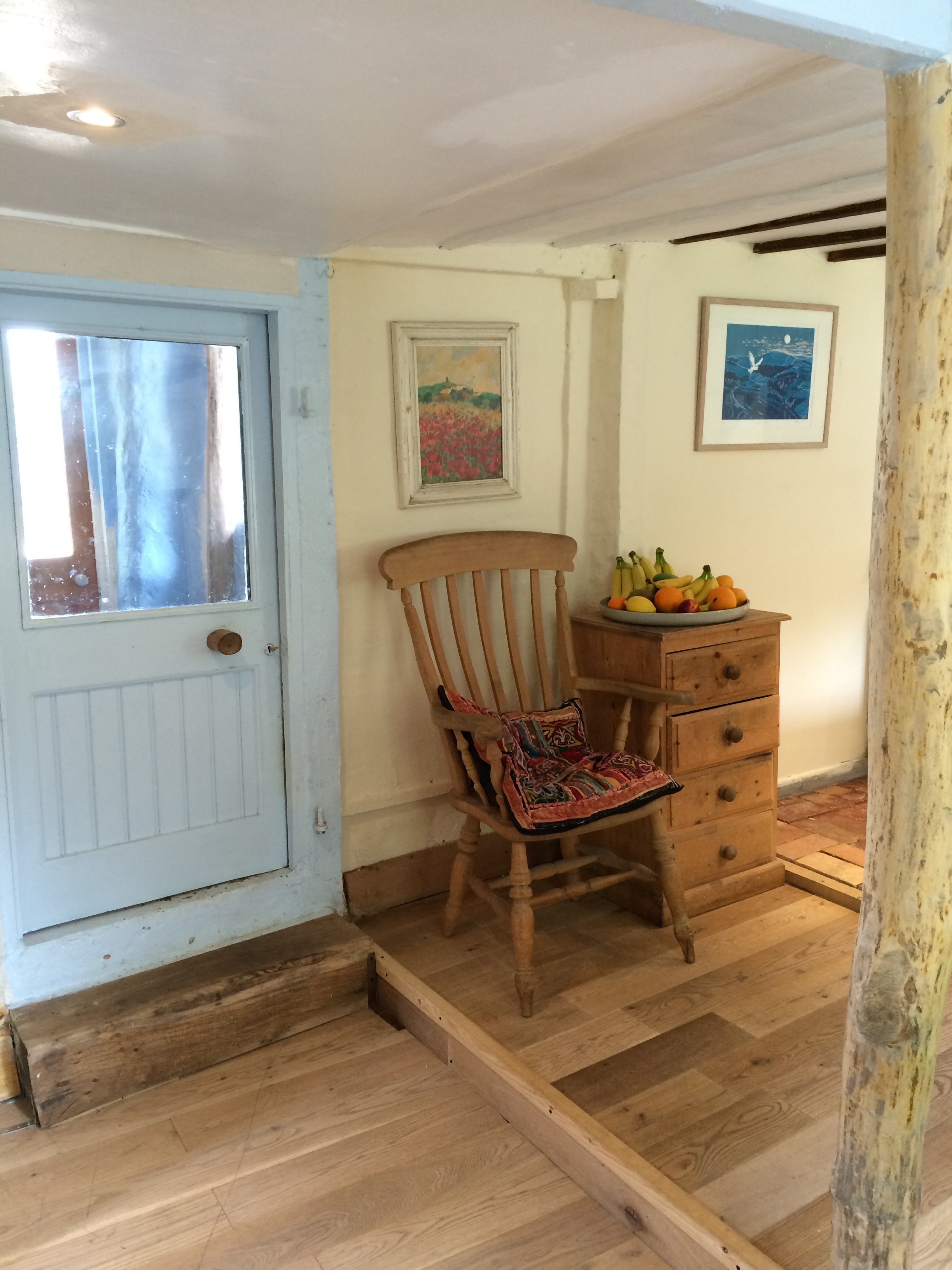 How to build a cob and straw bale house how we built for Kitchen back door
