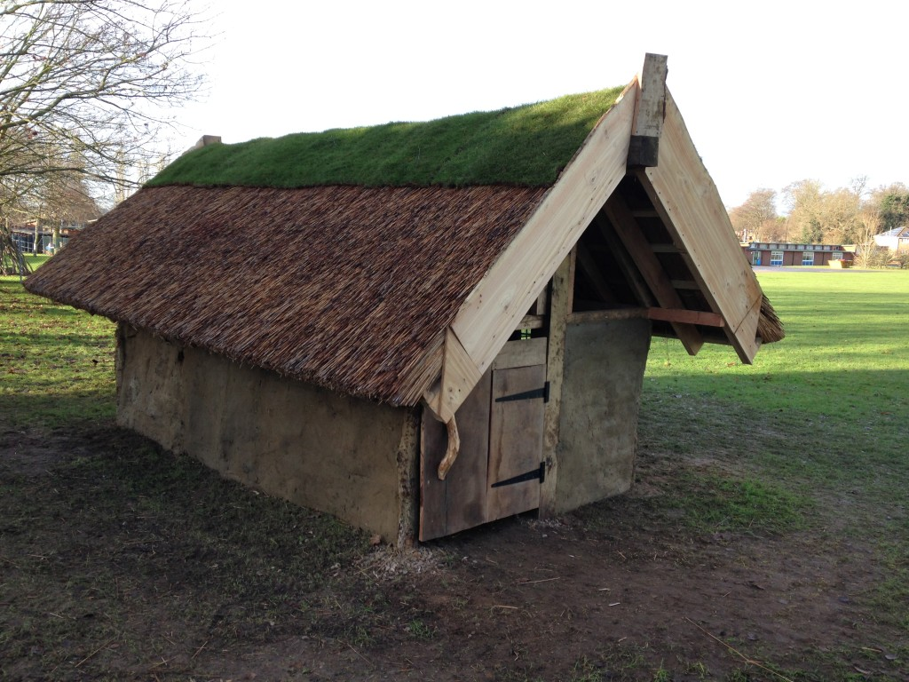 Build an anlgo saxon longhouse at key stage 2 history